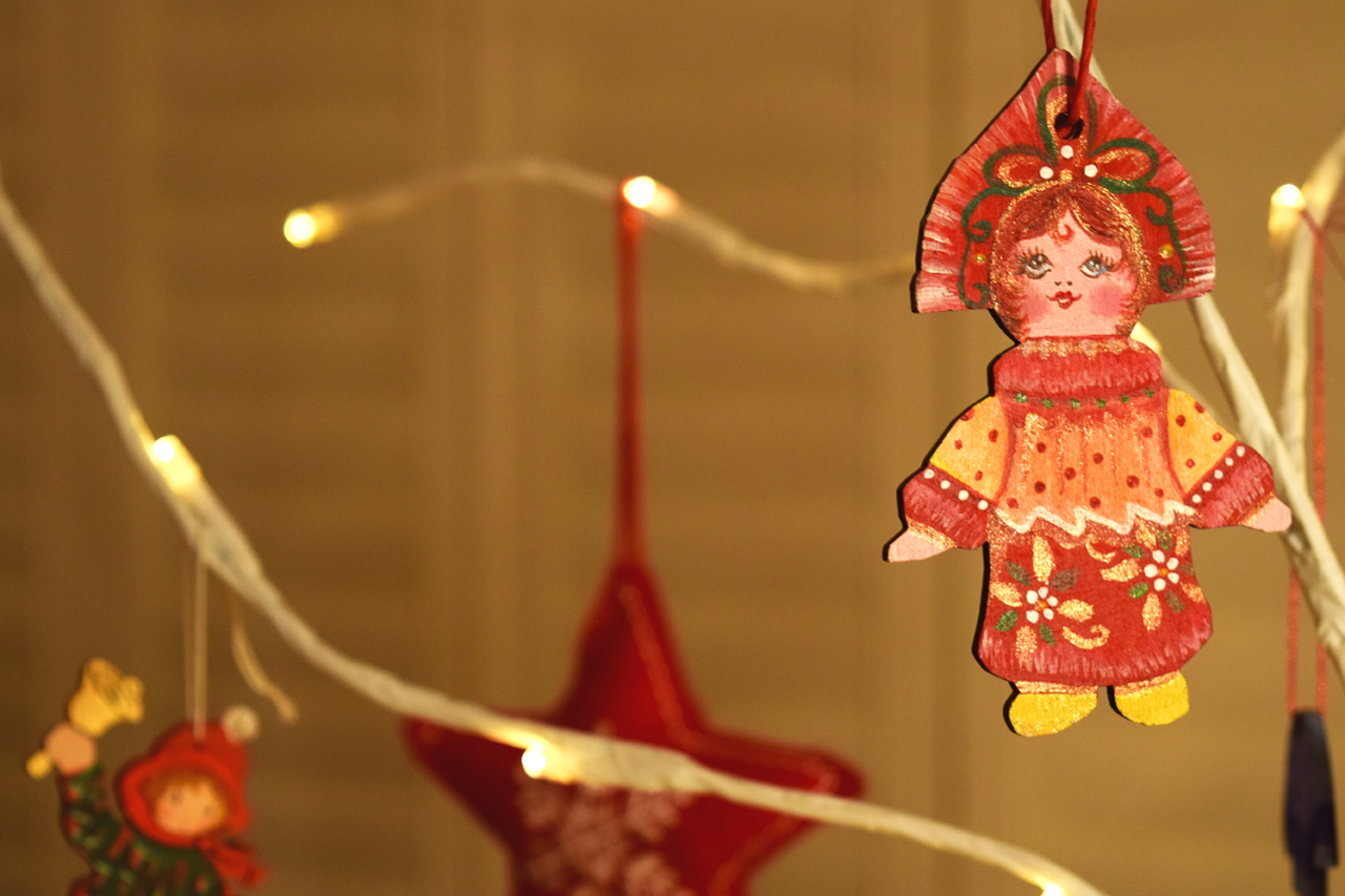 Russian Doll Christmas Decoration