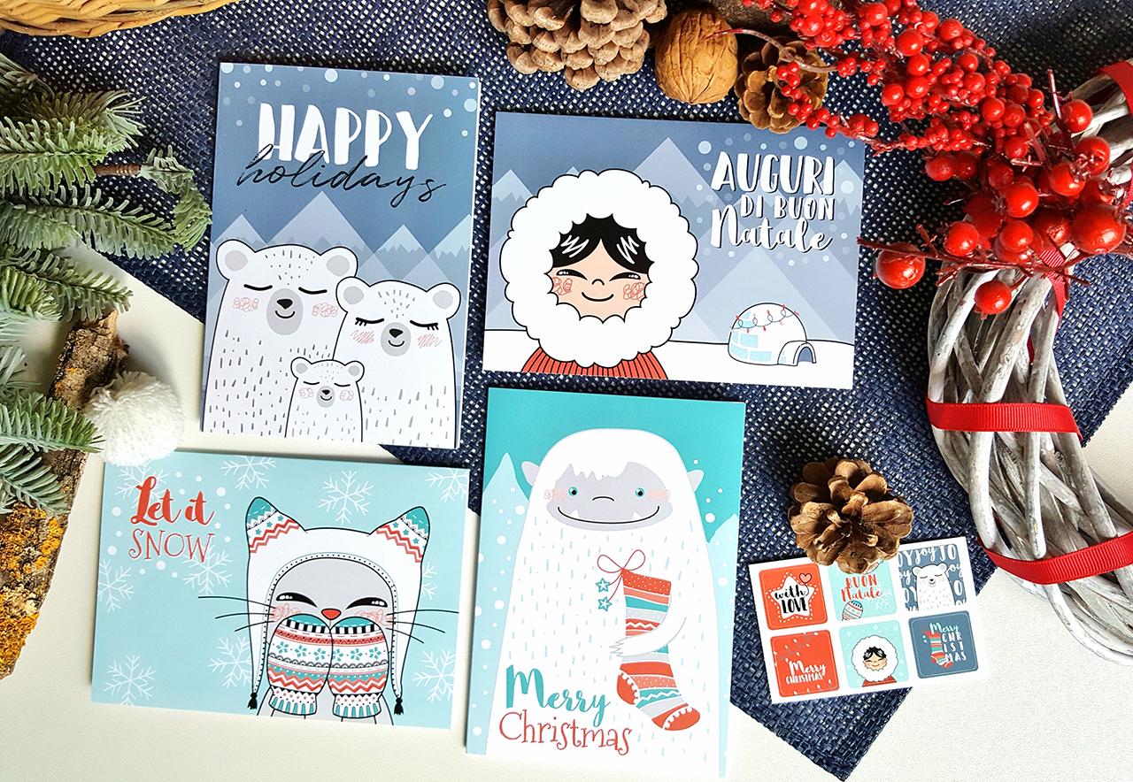 Cestino di Mirtilli- Elena, illustrated Christmas cards at Il Mondo Creativo)