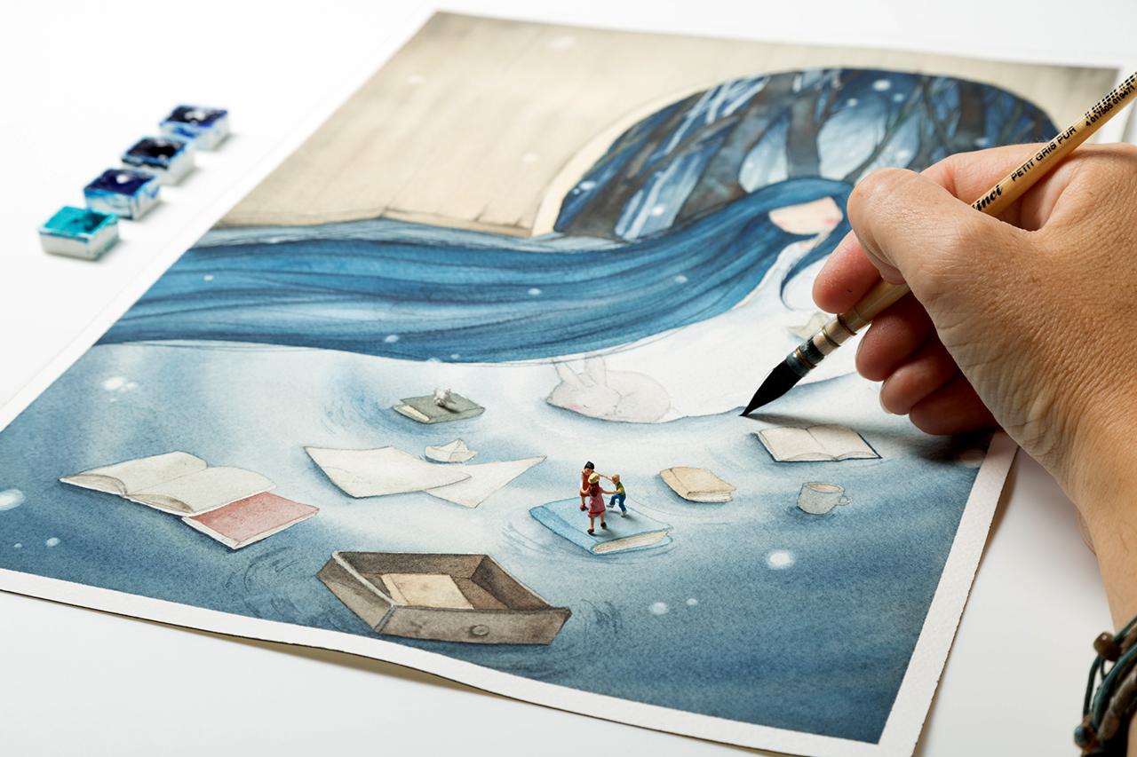 I Colori di Laura - Laura Cortinovis watercolour Illustration at Il Mondo Creativo