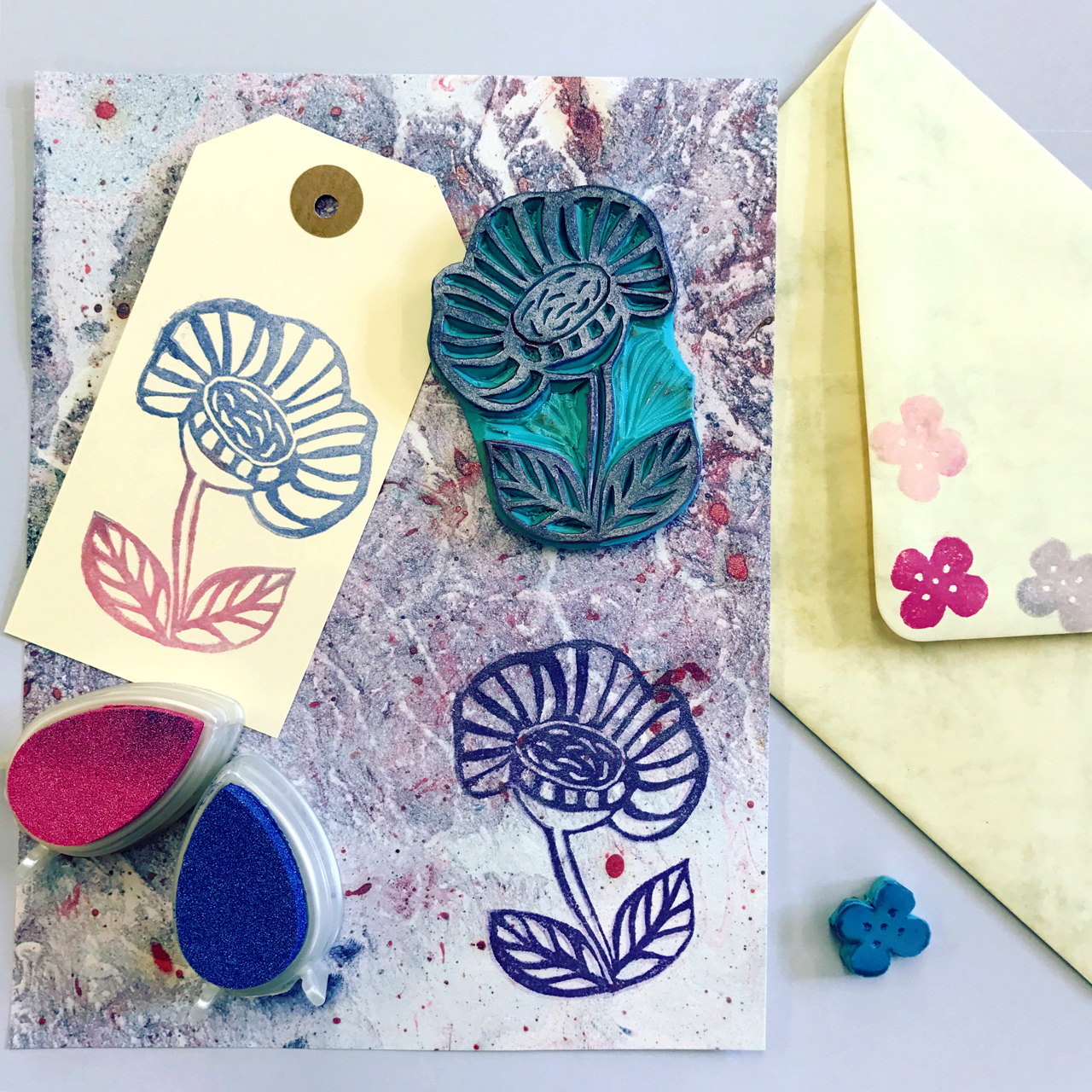 Flower Stamps by Ilaria Harris