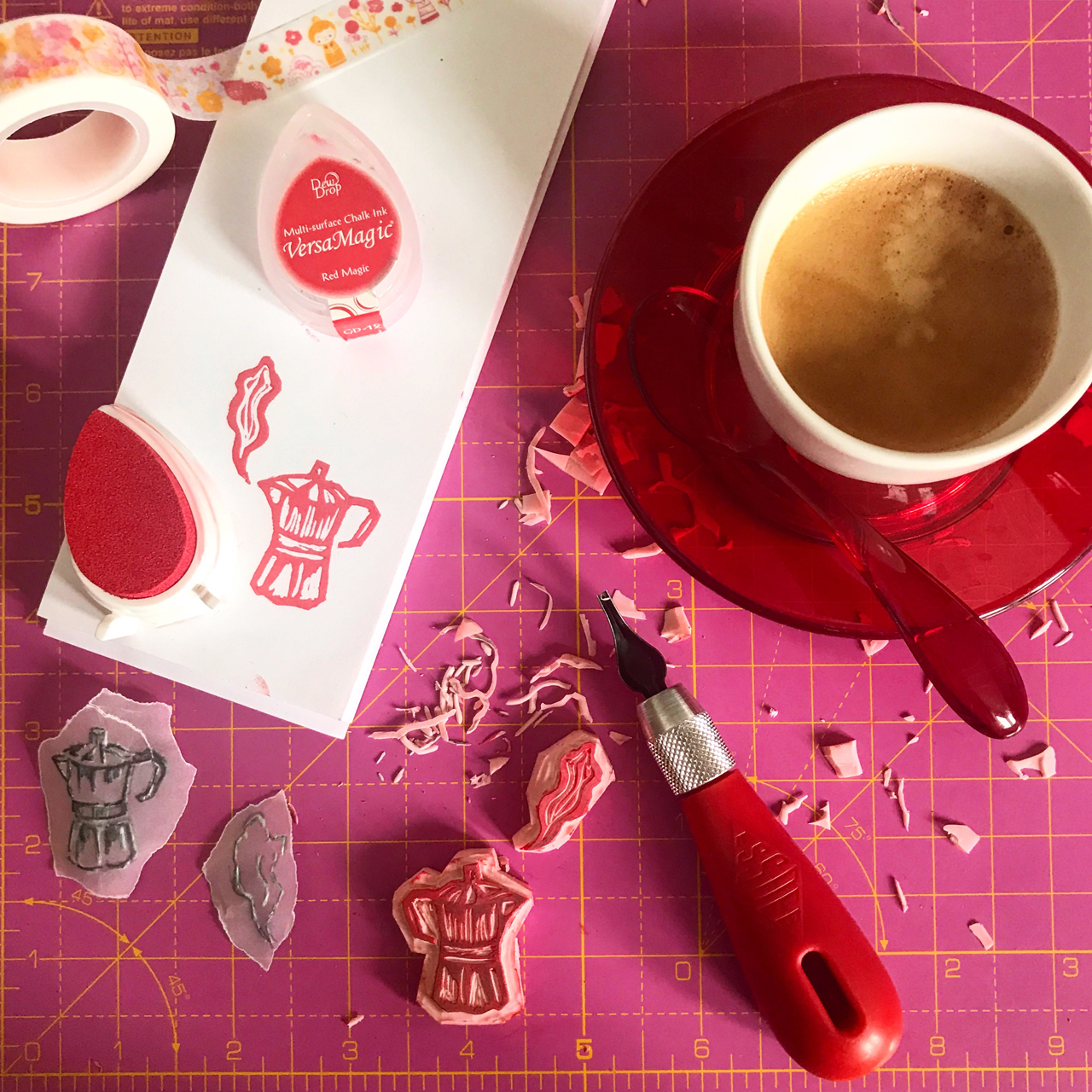 Stamping! Italian Breakfast by Ilaria Harris