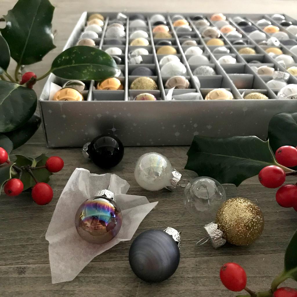 Metallic mini Christmas baubles